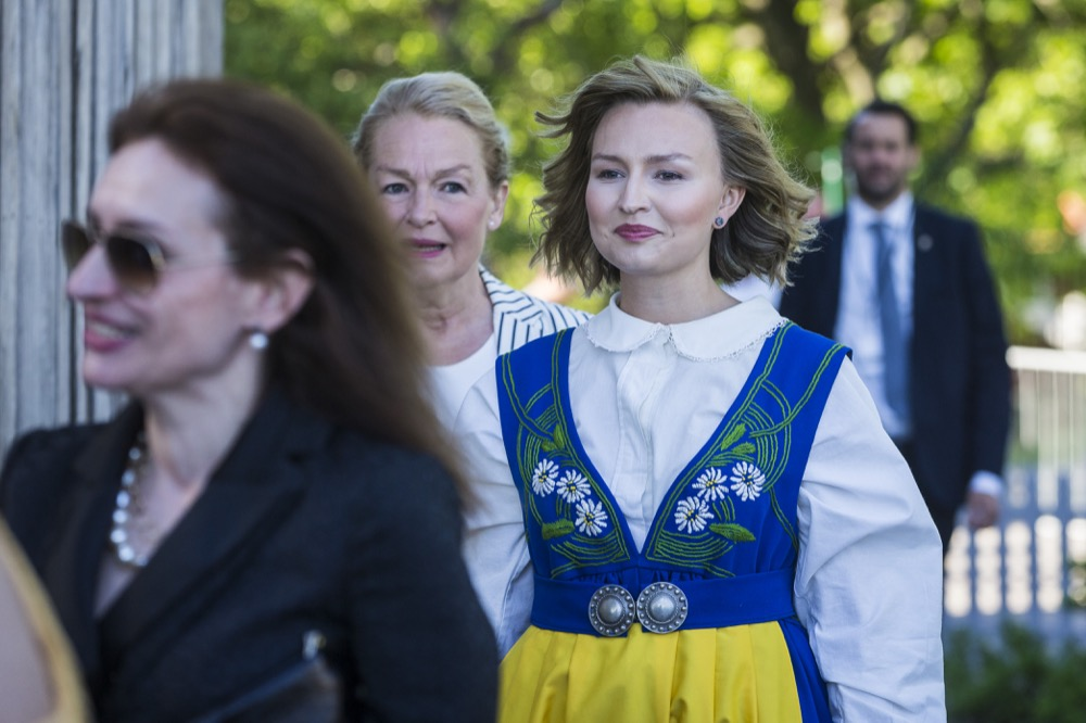 Sweden's Royals Turn Out In Traditional Dress to Ring in National Day