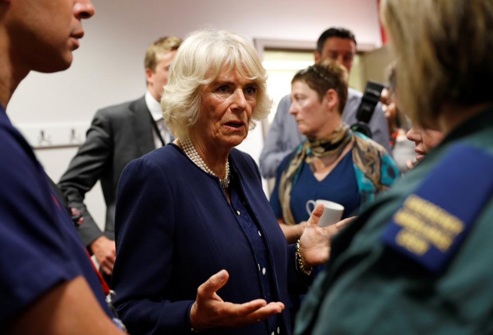 The Prince Of Wales And Duchess Of Cornwall Meet Emergency Services Personnel