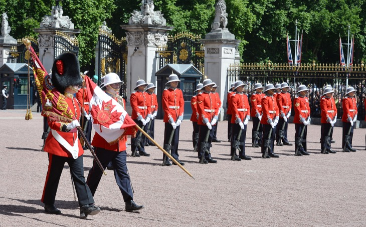 First Female Commander for Changing of the Guard